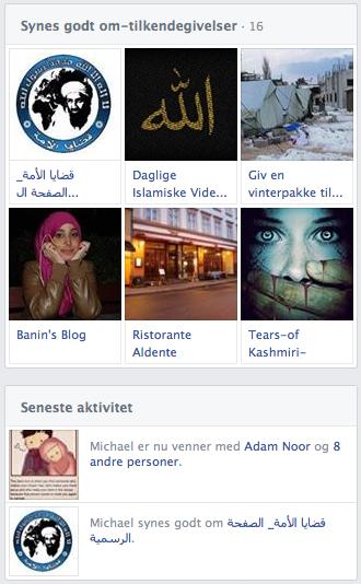 """Michael Chau er ligeledes medlem af en støtteside for Osama Bin Laden på Facebook. Det skulle være udbredt i Villy Søvndals kreds af den """"sekulære del af oppositionen""""."""