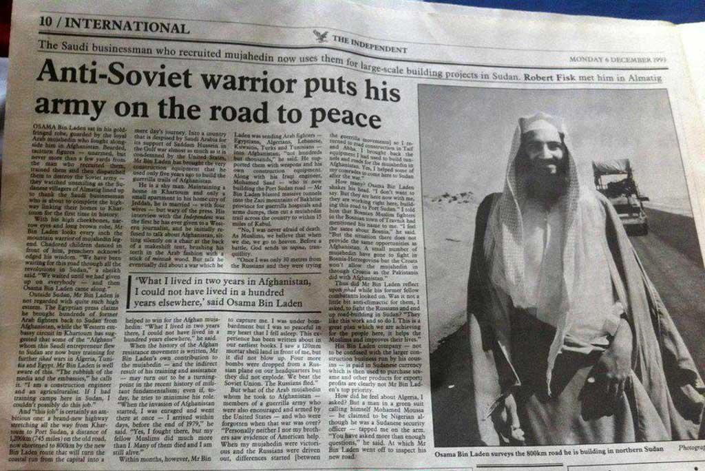 Historien gentager sig: Osama Bin Laden var også først en ven og senere en fjende.