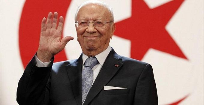 Præsident Béji Caïd Essebsi vandt det seneste valg i december 2014.